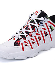 Unisex Sneakers Spring / Fall Comfort PU Casual Flat Heel  Black / Blue / Red  Walking