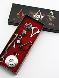 Video Game Stabber Style  Sign Alloy  Conner Silver Alloy Clock/Watch 7PcS