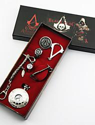 Joyas Inspirado por Assassin's Creed Conner Anime/Videojuego Accesorios de Cosplay Collares / Broche / Reloj / Anillo Plata Aleación
