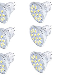 4.0 GU4(MR11) Focos LED MR11 15 SMD 5733 350 lm Blanco Cálido / Blanco Fresco Decorativa 09.30 V 6 piezas