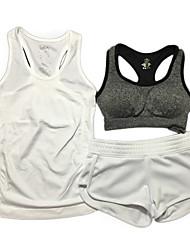 Femme Sans Manches Course / Running Soutien-Gorges de Sport Cuissard  / Short Ensemble de VêtementsRespirable Compression Résistant aux