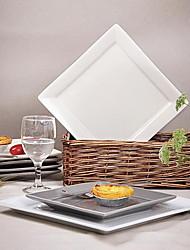 vaisselle en porcelaine de style occidental contracté plaque carrée en céramique