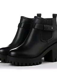 Women's Boots Fall / Winter Creepers / Combat Boots Leatherette Outdoor / Casual Platform Zipper Black / Gray Others