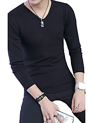 In the autumn of 2016 sets of head neck straight man knit casual long thin sweater shirt male tide