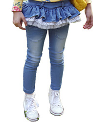 Girl's Cotton Spring/Autumn Fashion Lace Pantskirt Children Skinny Pants