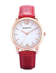 REBIRTH Dámské Módní hodinky Náramkové hodinky / Křemenný PU Růže pozlacená Kapela Běžné nošení Černá Červená Hnědá