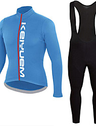 KEIYUEM®Spring/Summer/Autumn Long Sleeve Cycling Jersey+Long Bib Tights Ropa Ciclismo Cycling Clothing Suits #L85