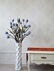 1pc 1 Ramo Poliéster / Plástico Tulipas Flor de Chão Flores artificiais 39.3inch/100CM