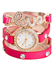 Women's Fashion Shinning Love Letter Casual Quartz Bracelet Watch