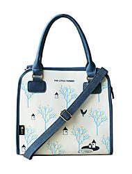 Fleur Princess® Femme Polyuréthane / Toile Sac à Bandoulière Bleu-S1311D00101