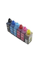 ET50 e330 er 290 encre, un pack de 6 boîtes, chaque box couleurs différentes, à savoir: noir, rouge, jaune, bleu, rouge clair, bleu clair