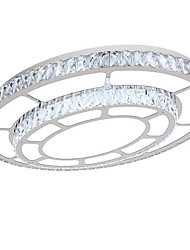 Remote Control Led 72W Flush Mount/Crystal Ceiling Lights/ Modern/Contemporary /Living Room / Bedroom /Stainless