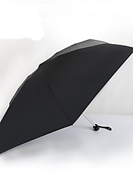 Cores Sortidas Guarda-Chuva Dobrável Sombrinha / Ensolarado e chuvoso / Chuva Alumínio / têxtilCarrinho / Crianças / Viagem / Lady /