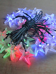 1PC Solar LED Home Christmas Outdoors Decorate 4.5M 20 Dip  Waterproof String Lights