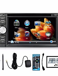 2 Din 6.2'' Car DVD Player 3D Rotating UI GPS Navi Universal Car Radio in Dash BT Stereo Video SWC