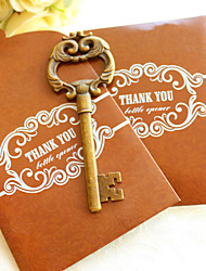 Antique Key to My Heart Bottle Opener in Thank You Gift Bag Beter Gifts® Wedding Favors Supplies