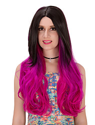 Black red gradient long hair wig.WIG LOLITA, Halloween Wig, color wig, fashion wig, natural wig, COSPLAY wig.
