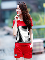 Women's casual / daily / sports / holiday simple / lovely / active summer T-shirt two piece suit