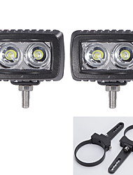 10W CREE 2X LED Work Light Bar Driving Lamp Fog light +3 inch A pair Mounting Brackets
