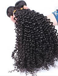 Человека ткет Волосы Малазийские волосы Kinky Curly 1 шт. волосы ткет