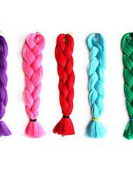 cosplay peruca cor fibra química trança africano artigo peruca preta de 22 polegadas 5 cores 1pcs opcionais