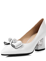 Women's Shoes Winter Heels / Pointed Toe Heels Wedding Dress Chunky HeelBowknot / Sparkling Glitter /