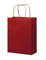 cinq d'un spot pack blanc personnalisé sacs sacs en papier kraft cadeau vêtement à la main des sacs en papier kraft