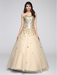 Ball Gown Sweetheart Floor Length Tulle Prom Formal Evening Dress with Sequins by TS Couture®