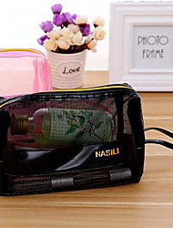 Travel Portable Bathroom Toiletries Square Mesh Makeup Bag