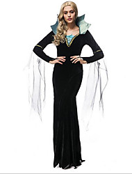 Women's Zombie Witch Long Dress Halloween Costume