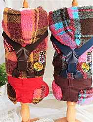 Dog Hoodie Red / Yellow Winter / Spring/Fall Color Block Casual/Daily Dog Clothes / Dog Clothing-Other