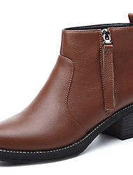 Women's Boots Fall Riding Boots Leatherette Office & Career / Dress / Casual Low Heel Others Black / Brown Others