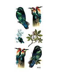 1 Tatuagem Adesiva Séries Animal Non Toxic / Estampado / Waterproof / Efeito 3DFeminino / Masculino / Adulto Flash do tatuagemTatuagens