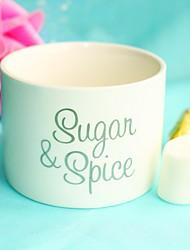 Pottery Sugar Bowl Favor-1Piece/Set Kitchen Souvenir Mother's Day Party Non-personalised White