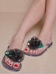 Women's Sandals Summer Sandals PVC Outdoor / Casual Flat Heel Flower Black / Blue / Yellow / Pink Others