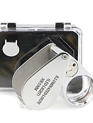 Микроскоп Бижутерия / Ремонт часов Высокое разрешение / Держать в руке / LED / Складной 30X 21mm Стандартный Металл
