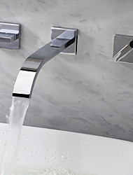 Bathroom Sink Faucet wall mount Contemporary Widespread design