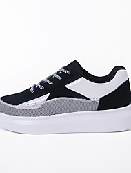 Women's Thick Soles Breathable Mesh Flat Shoes for Walking with 4cm Height Increasing