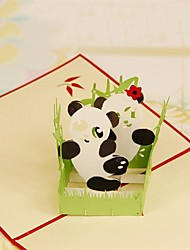 Paper Craft 3D Pop-up Greeting Card For Birthday Festival Party Christmas