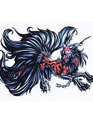 1pc Cool Body Art Decal Tattoo for Women Men Demon Fox Mythical Creature Design Temporary Tattoo Sticker HB-410