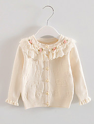 FanXingBeiYiGirl's Going out Solid Blouse,Cotton Spring / Fall Beige