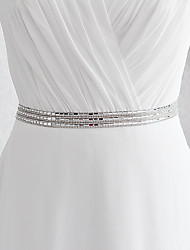 Satin Wedding Party/ Evening Dailywear Sash-Sequins Beading Sequins Beading