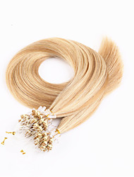 100s Brazilian Hair Micro Loop Hair Extensions Silky Straight Human Hair Micro Rings Links Hair Extension