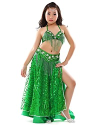 Kids' Dancewear Outfits Children's Performance Chiffon Paillettes 3 Pieces