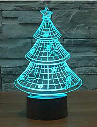 christmas tree touche de gradation 3d conduit de lumière de nuit lampe atmosphère décoration 7colorful éclairage nouveauté lumière de Noël