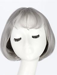 2016 женщин способа синтетический парик ежедневно девушки боб прямые короткие волосы воздушные удары цвет света Gary