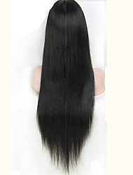Long Silky Straight Full Lace Human Hair Wigs Brazilian Lace Front Wigs Cheap Human Wigs