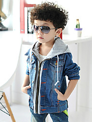 Boy's Cotton Spring/Autumn Fashion Coat Hooded Denim Jacke