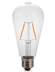 2W E27 ST64 Edison LED Filament Bulb Lamp Dimmable 25W Equivalent(220-240V)