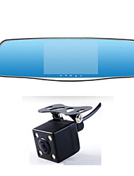 5 Inch HD Car Double Lens And Double Blue Book Night Anti Dazzle Screen Driving Recorder